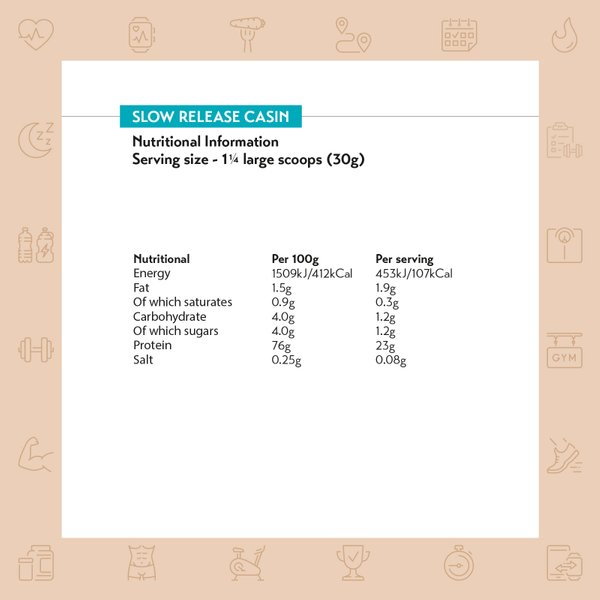 MyProtein Slow-Release Casein (2.5kg)